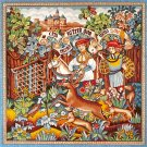 Needlepoint Canvas by Margot Poursuite du cerf scene de chasse XV (margot-213-01)
