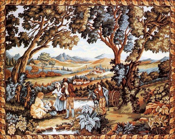Needlepoint Canvas by Margot Vedure au Muletier XVIII The Mile Cart (margot-223-2807)