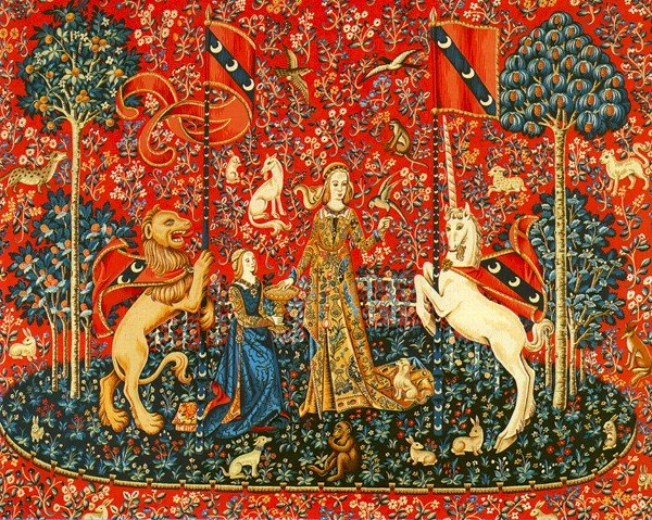 Needlepoint Canvas by Margot Dame a la licorne The lady and the Unicorn (margot-223-2808)