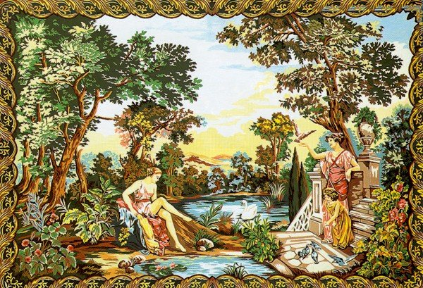 Needlepoint Canvas by Margot Verdure aux Dianes d'apres Tapisserie du XVIII (margot-233-2708)