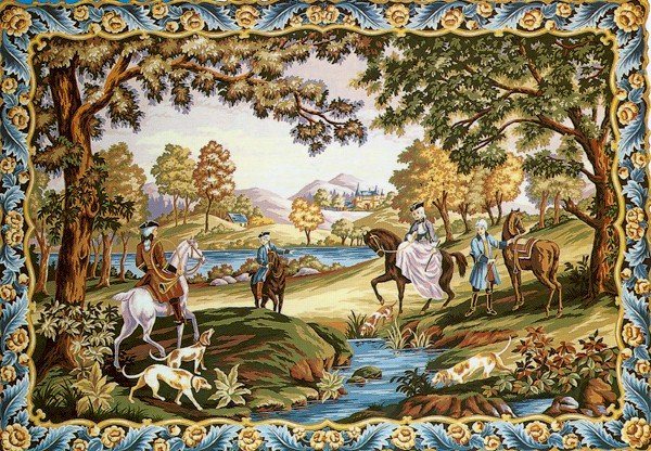 Needlepoint Canvas by Margot Chasse Louis XV Hunt (margot-233-2709)
