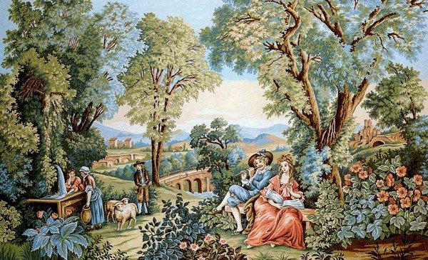 Needlepoint Canvas by Margot Verdure Romantique (margot-253-2913)