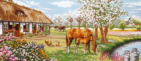 Needlepoint Canvas by Margot Le Bocage fleur (margot-173-3100)