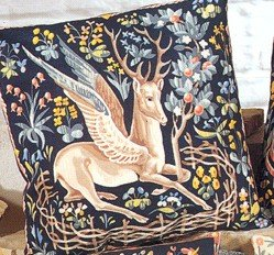 Needlepoint Canvas by SEG Medieval Winged Stag (seg-1904-19)