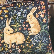 Needlepoint Canvas by SEG Medieval Rabbits (seg-1904-15)