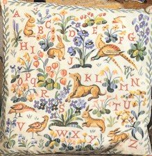 Needlepoint Canvas by SEG Medieval Animals Alphabet (seg-1904-18)
