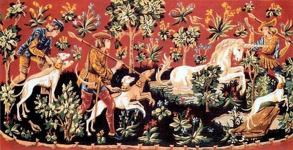 Needlepoint Canvas by SEG Chasse a la Licorne (seg-932-12)
