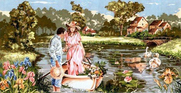 Needlepoint Canvas by SEG Berge romantique (seg-932-104)
