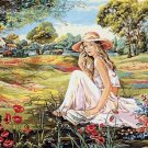 Needlepoint Canvas by SEG La liseuse du Val Fleuri (seg-932-82)