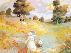 Needlepoint Canvas by SEG Promenade champetre ecole de Monet (seg-981-61)