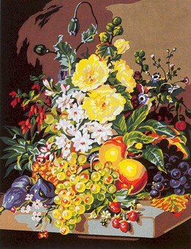 Needlepoint Canvas by SEG Pyramide de fruits et de fleurs XIX (seg-981-147)