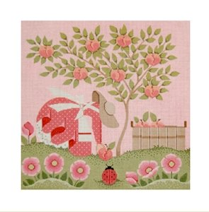 Needlepoint Canvas Mrs. Calico by Janet Watson