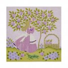 Needlepoint Canvas Mrs. Greenbean by Janet Watson