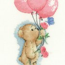 Toffee with Balloons cross stitch kit by Heritage Crafts