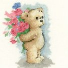 Toffee with Flowers cross stitch kit Heritage Crafts