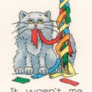 May Cat by Peter Underhill Heritage Crafts Cross stitch Kit