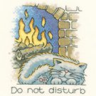 January Cat by Peter Underhill Heritage Crafts Cross stitch Kit
