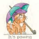 April Cat by Peter Underhill Heritage Crafts Cross stitch Kit