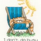 August Cat by Peter Underhill Heritage Crafts Cross stitch Kit