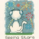 November Cat by Peter Underhill Heritage Crafts Cross stitch Kit