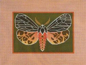 Needlepoint Canvas by Janet Watson Virgin Tiger Moth  (fdp-JW-120)