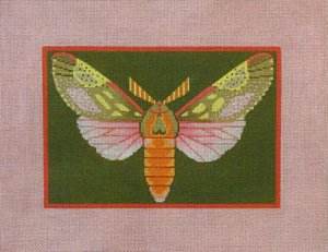 Needlepoint Canvas by Janet Watson Berthodia Moth  (fdp-JW-121)