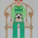 Needlepoint Canvas by Janet Watson Buddy Boy - Soccer (fdp-JW-128)
