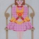 Needlepoint Canvas by Janet Watson Little Miss B  (fdp-JW-130)