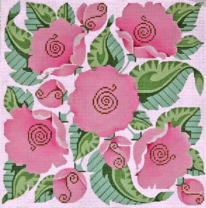 Needlepoint Canvas by Janet Watson Passion Flower (fdp-JW-133)