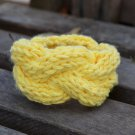 "7""-8"" Yellow Cable-Knit Bracelet"