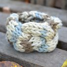 "6""-7"" Tri-Colored Cable-Knit Bracelet"