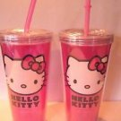 Lot 2 Zak Design Hello Kitty 16 Oz Tumbler with Straw NEW