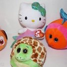 NEW  LOT 4 TY Beanie  Babies: Zoom, Splashy, Mermaid and Sparkle,