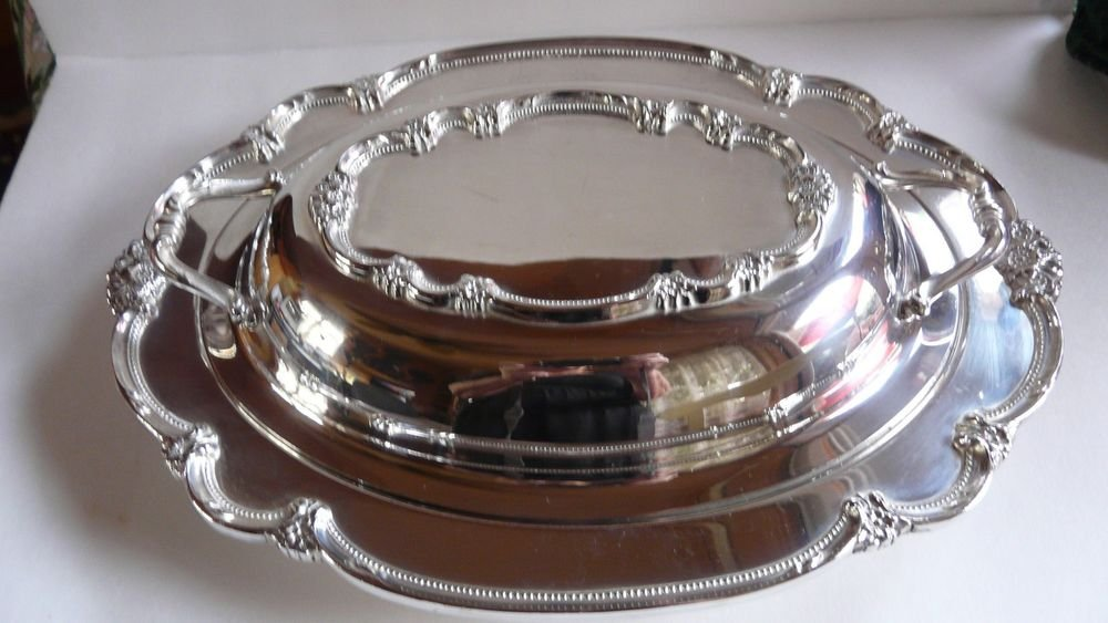 1847 Rodgers Bros. IS Silverplated Covered Casserole/Dish Remembrance #9812