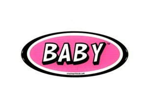 Cruisin' With Kids Safety Tag - Pink