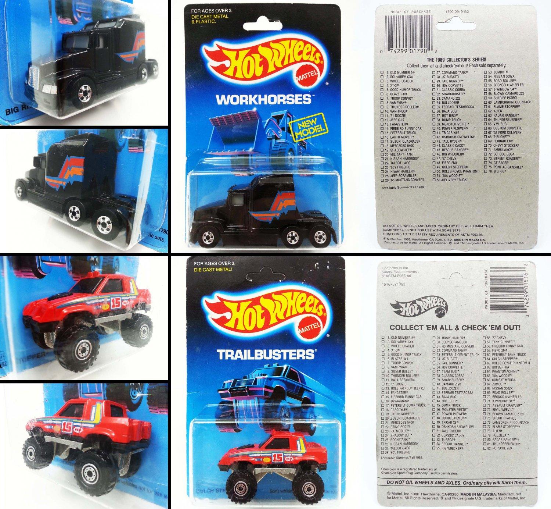 Hot Wheels - Kenworth Big Rig & Gulch Stepper - Vintage lot of 2 - New - Free shipping