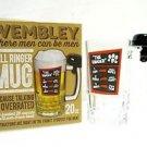 ringer beer mug bell wembley glass oz 20 service novelty new original stein box
