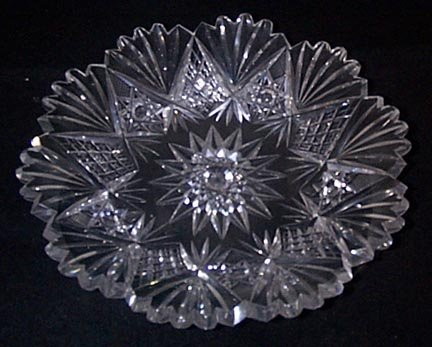 American Brilliant Period Cut Glass Plate