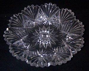 American Brilliant Period Cut Glass Plate