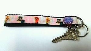 Tinkerbell key Chain FOB - Tink wristlet - Tinkerbell lanyard - Fairy Key chain