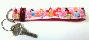 Princess key Chain FOB - Princess wristlet - Princess lanyard