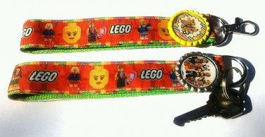 Lego Key Chain FOB - Lego wristlet - Lego lanyard - Lego Movie Key fob