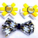 Set of  3 Michigan Wolverines Hair Bows - U of M Hair clips