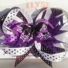 Spider Hair Bow - Spider Halloween Stacked bow