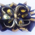 Skull hair Bow - Skull Headband - Halloween Skull Bow