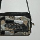 "SOPHIA CAPERELLI black, silver handbag. 51% leather LOTS OF POCKETS 24'', 3'' 6"""