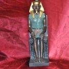 "Egyptian Pharaoh Sitting Statue Sculpture HOME DECOR 9"" X 5"" X 3"""