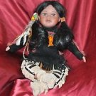 "GIRL INDIAN DOLL HANDMADE VERY CUTE 16""L VGC MOVABLE LIMBS"