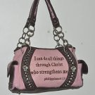 Handbag Leather Pink Spiritual Conceal/Carry Montana West