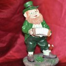 "Vintage Elf Gnome Leprechaun With Accordian 9"" Tall"
